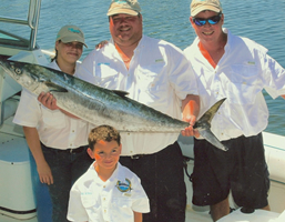 kingfish fishing charters tampa bay florida - spanish sardine